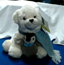 "THE BEARINGTON COLLECTION TOBY & TUX POLAR BEAR & PENGUIN 12""  2007 New plush"