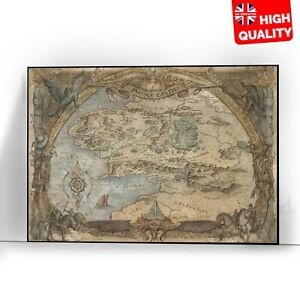 Maps Of Middle Earth Lord Of The Rings Art Poster Photo Print | A5 A4 A3 |