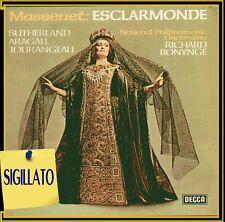 "MASSENET "" ESCLARMONDE""BOX 3 LP SIGILLATO DECCA 1976 SUTHERLAND-RICHARD BONYNGE"