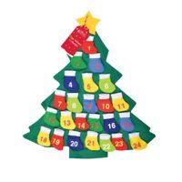 Sapin de Noël Calendrier de l'avent avec Tissu Poches à Add Your Own cadeaux