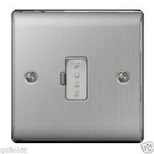 BG NBS54 Spur Connection Unit - 13amp Unswitched (Brushed Steel)