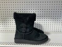 Koolaburra By Ugg Sulana Short Womens Insulated Winter Snow Boots Size 6 Black