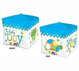 CUBEZ Baby BOY Frogs & Turtles Blue & Green Shower Birthday Party Balloon