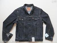 Levi's® Biker Jacke Jeansjacke Gr. M, schwarz, NEU ! Oldschool Black Denim !