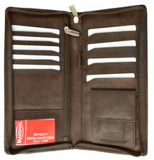 RFID Security Safe Leather Travel Wallet Passport Airline Ticket Check Case BR