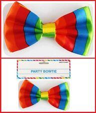 Rainbow BOWTIE Bow Tie ~ Mardi Gras Gay Pride Clown Rio Work Dance Costume Party