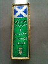 Suffragette Badge Brooch Scottish University Scotland Suffragettes