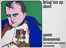 Original Vintage Poster Napoleon Newsweek Silkscreen HUGE Newspaper 1960s Art
