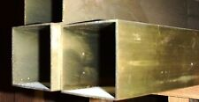 """BRASS SQUARE TUBING  2 X 2"""" SOLD BY the FOOT about .040 wall"""