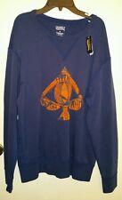 Daniel Cremieux Mens XL Blue  Sweatshirt w/ Orange Ace Graphic NWT