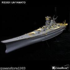 Free shipping LionRoar PE details 1/350 WWII IJN Battleship Yamato for Tamiya