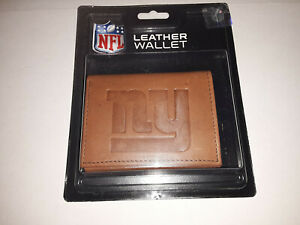 New York Giants Embossed  Leather Tri-Fold Men's Wallet By Rico
