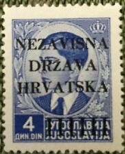 croatia stamp 1941 year Scott 6 MH