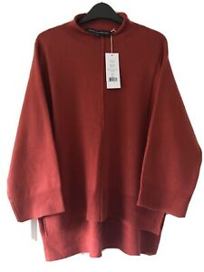 French Connection Women's Wool Blend Ebba Vhari High Neck Firewood Jumper S £75