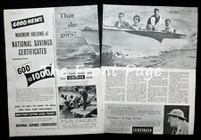 BELL SPORTSMAN MOTORBOAT BRITISH ANZANI ENGINEERING CO 2pp PHOTO ARTICLE 1958