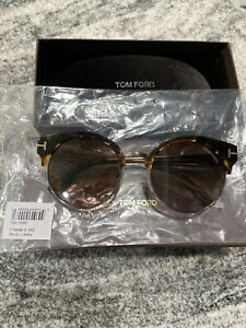 Tom Ford Alissa FT0608 Round Sunglasses Havana W/boxes & Tags - 100% Authentic