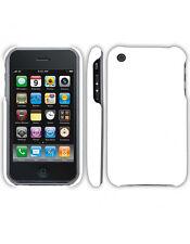 Coque rigide Blanche pour iPhone 3GS aspect mat toucher rubber gomme
