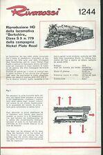 Rivarossi 1244  Norme Manutenzione Locomotiva Berkshire Class S3 n° 779-1965