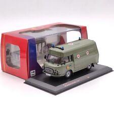 IST 1:43 Barkas B1000 SMH3 NVA 1985 IST170T Ambulance Diecast Models Car Green