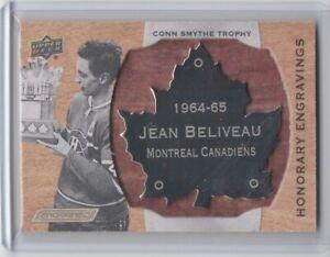 2018-19 Upper Deck Engrained Honorary Engravings #HE-CS65 Jean Beliveau 37/100