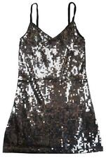 Girls Dress Strappy Sequin Front Sparkle Glitter Party Kids 3 to 12 Years