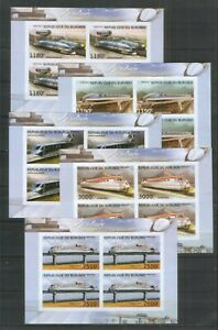 Burundi ** Eisenbahn , Aerotrains ( Blocksatz , geschnitten , 2012 )