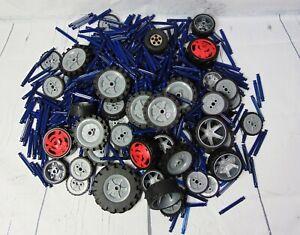 K'nex Bundle - Assorted wheels and Blue rods