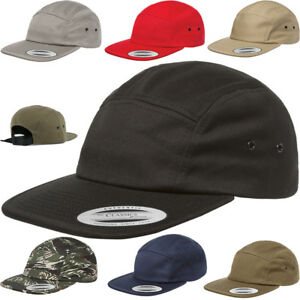 YuPoong Classic 7005 Plain 5 Panel Strapback Hats Jockey Camper Cap Low Profile
