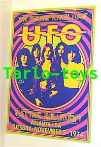 UFO - Phil Mogg / M. Schenker - Atlanta, Usa 5 november 1974 - concert poster