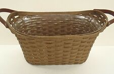 Longaberger Library Basket Combo Db Deep Brown + Protector New Retired