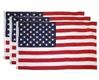 3-Pack 3x5 American Flags w/ Grommets ~ USA United States of America ~ USA Stars