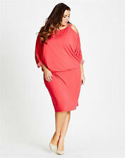 Autograph Red Cherry diamonte overlay layered DRESS 26 NEW retail $99.99