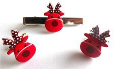 BEAUTIFUL HANDMADE RED RUDOLF REINDEER CUFFLINKS + TIE PIN SET + FREE GIFT BAG