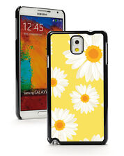 For Samsung Galaxy Note 2 3 4 5 Hard Case Cover 1080 Daisy Flowers on Yellow