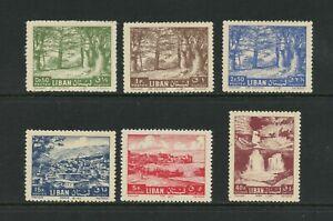 F989 Liban 1962 Cedars, Vues , Chutes D'Eau Redrawn 6v. MNH