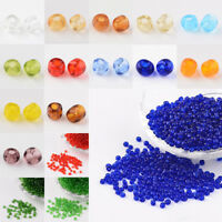 50 g 8/0 Transparent Round Glass Seed Beads Craft 3mm Hole 1mm about 1097pcs/50g
