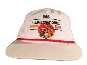 Vintage 1986 Summernationals Mongoose Coors Corvette Truckers Hat NHRA Racing