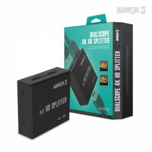 """Armor3 """"DualScope"""" 4K HDMI Splitter for HDTV HD Gaming Consoles or Device"""