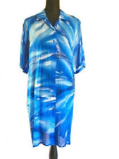 Gottex Swimsuit Cover-up Blue Hawaii Shirt Jacket New Sz S $248 Linen
