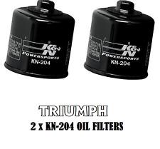 TRIUMPH SPEED TWIN 1200cc 2019 2 X KN-204 OIL FILTERS - BLACK