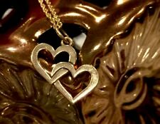 💕 BEAUTIFUL RETIRED JAMES AVERY 14k GOLD DOUBLE CUPID HEARTS CHARM