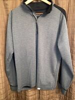 Hawke & Co Mens Gray Pullover Long Sleeve Sweater 1/4 Zip Size XL