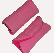 Baby Candy Pink Car Seat Pram Highchair Harness Belt Cover Pads x 2 - Travel Aid