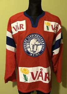 Norway Norge Vintage Ice Hockey Jersey by Nike Size - Mens Large Shirt