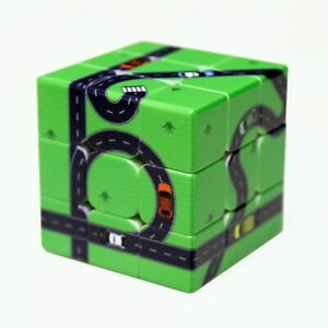 Green Road Magic Cube Puzzle IQ Games Rubix Stress Relief Rubick Rubic Toy Gift