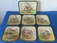 Royal Doulton 'Game Birds' sandwich set D4586 - made in June 1927