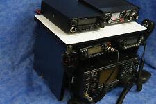Navy Ham Radio Bench Mount Rack SDR Radio Holder Kenwood Icom Mike Antenna CB