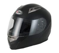 Vcan V158 ACU APPROVE FULL FACE MOTORCYCLE HELMET ROAD LEGAL MATT BLACK