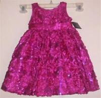 SPECIAL Occasion  Party  DRESS  Soutache Roses Satiny Sequin Fancy (18 mos,) NEW
