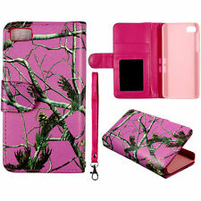 SpSPink Camo RT Wallet Flip magnet  For Blackberry Z10 PU Leather case cover